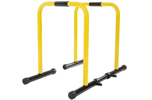 RELIFE REBUILD YOUR LIFE Heavy Duty Dip Stands Fitness Workout/ Dip Bar Station Stabilizer/ Parallette Push Up Stand