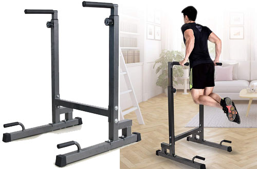 Livebest Heavy Duty Adjustable Power Tower & Strength Training Dip Stand Workout Station for Home Gym