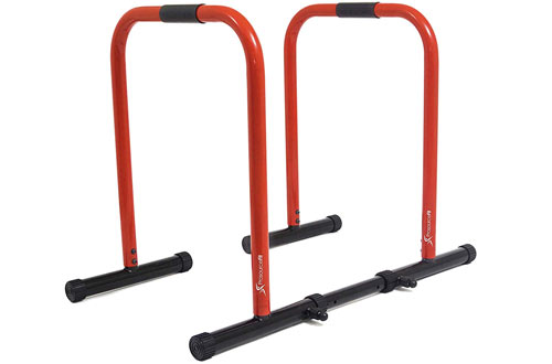 ProsourceFit Heavy Duty Dip Stand Station 7 Body Press Bar for Tricep Dips