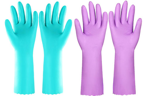 Elgood Latex Free Vinyl Cotton Gloves for Dishwashing Laundry Cleaning