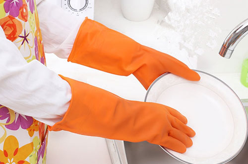 GUZON Rubber Dishwashing Gloves for Car-washing Laundry