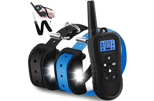 WDFZONE Small and Large Dog Training Collar with Remote