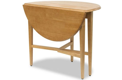 Modern Lines Round Drop Leaf Table for Small Space