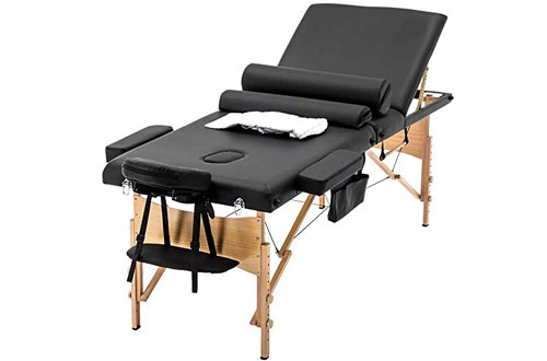 BestMassage Foldable Massage Tablewith Sheet Cradle Cover