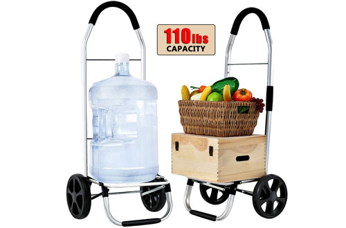 FORUP Foldable Grocery Cart & Pull Cart with Wheels