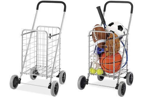 Whitmor Utility Durable Folding Design for Storage Shopping Cart