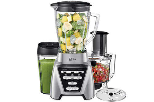 Oster Blender with Glass Jar Smoothie Cup & Food Processor Attachment