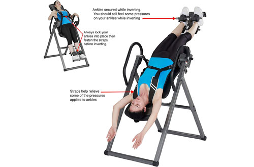 Innova Fitness Inversion Table with Ankle Relief and Safety Features – ITX9800