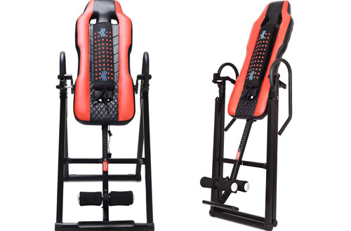 Gymax Vibration Massage and Heat Comfort Inversion Table for Home