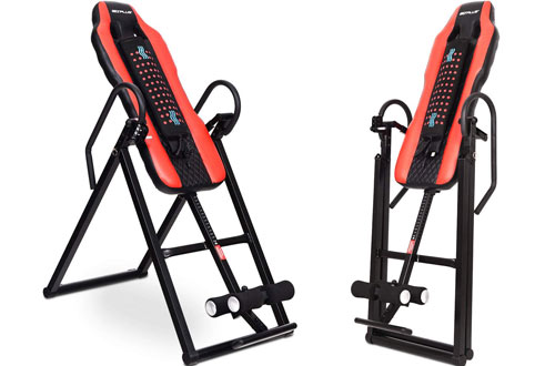 Goplus Heavy Duty Inversion Table Vibration Massage & Heat Comfort Back Stretching Machine