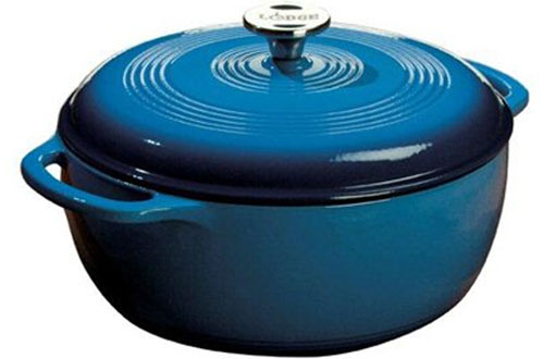 Lodge Ec6d33 Enameled Cast-iron Dutch Oven With Cover