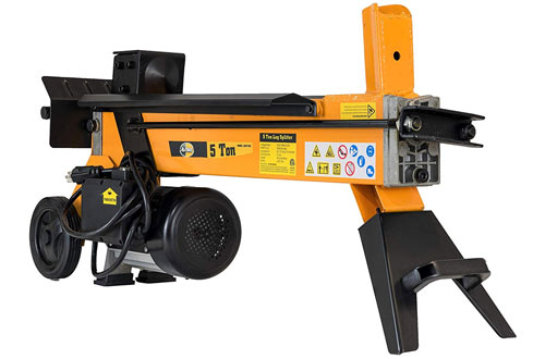 All Power America LS5T 5-Ton Electric Log Splitter - Portable Wood Cutter