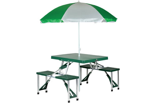Stansport Folding Picnic Table and Umbrella Comb