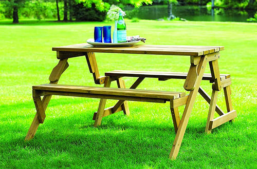 Merry Garden Interchangeable Wooden Picnic Table & Garden Bench