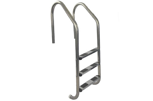 Aqua Select 3-Step Ladder with Stainless Steel Steps for In-ground Swimming Pool