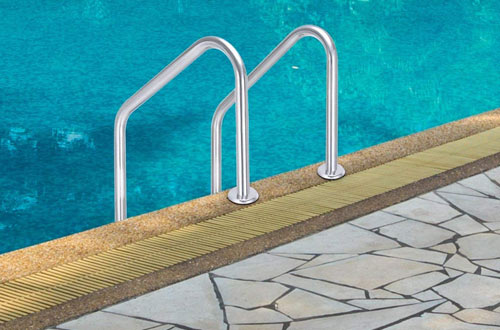 Goplus Swimming Pool Ladder for In-Ground Pools with Easy Mount Legs