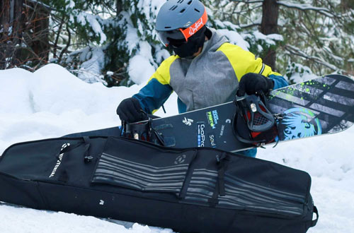 Winterial Snowboard Bag with Wheels - Travel Bag with Storage Compartments