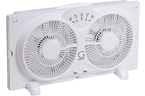 High-Velocity Reversible Twin Window Fan – Genesis