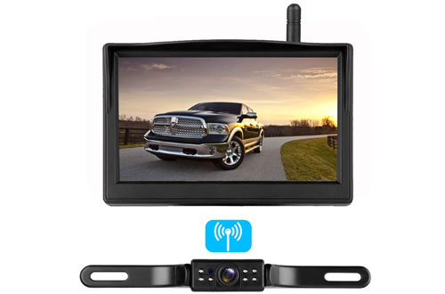 ZSMJ Digital Wireless RV Backup Camera System with 5-Inch LCD Monitor