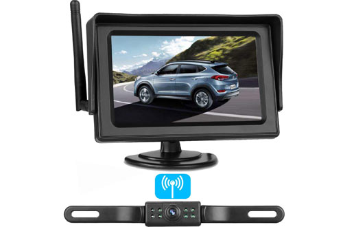 ZSMJ Wireless Backup Camera and Monitor Kit for Car, SUV & Minivan