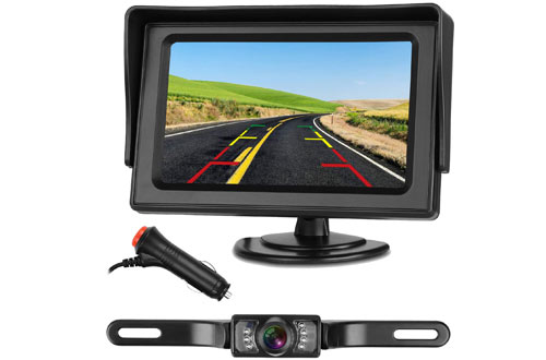 Emmako Backup Camera System & Waterproof Night Vision Rear View Camera