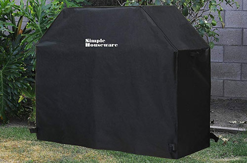 "Simple Houseware 58"" Weather-Resistant Polyester Grill Cover"