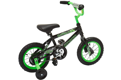 "Green With Training Wheels Magna Gravel Blaster 12/"" Bike Ages 3-5 Black"