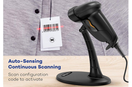 HooToo Fast and Precise USB Barcode Scanner for Windows/Mac OS/Android System