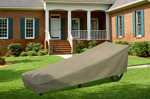 SunPatio Outdoor Waterproof Chaise Lounge Cover