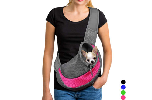 YUDODO Reversible Mesh Travel Tote Shoulder Sling Bag for Dogs & Cats