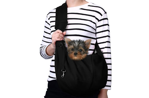 TOMKAS Small Dog Carrier Sling for Outdoor Travel Bag Tote