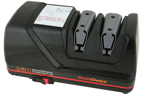 Chef'sChoice 316 Diamond Hone Knife Sharpener to Sharpen Straight and Fine Edge Knives