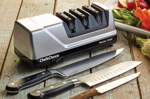 Chef'sChoice 15 Trizor XV Professional Knife Sharpener for Straight & Serrated Knives