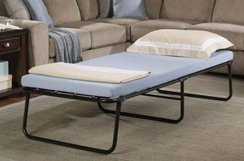 Simmons Foldaway Folding Bed Cot with Memory Foam Mattress