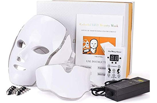 7 Colors Led Light Photon Neon-glowing Facial Light Skin Rejuvenation Led Face Mask