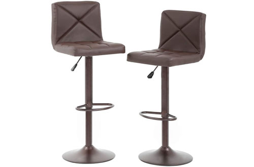 BestOffice Modern Adjustable Swivel Barstools & Hydraulic Chair Bar Stools