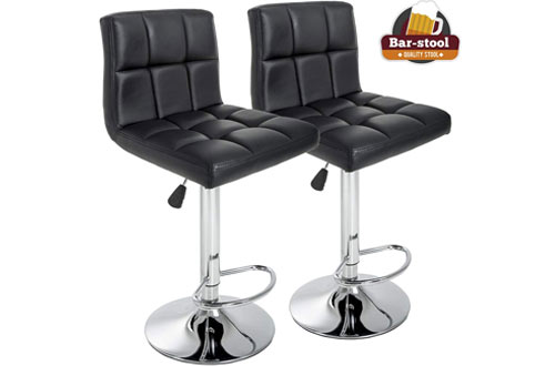 Amazing Top 10 Best Modern Leather Bar Stools With Back Reviews In 2019 Short Links Chair Design For Home Short Linksinfo