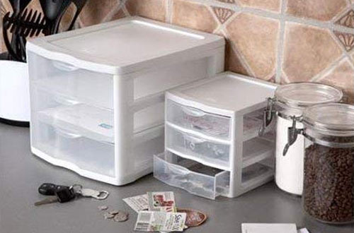 Sterilite 3-Drawer Unit with Clear Drawers