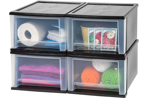 IRIS 17 Quart Stacking Plastic Drawers