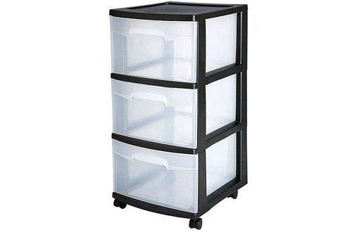 Sterilite 3-Drawer Medium Plastic Storage Cart
