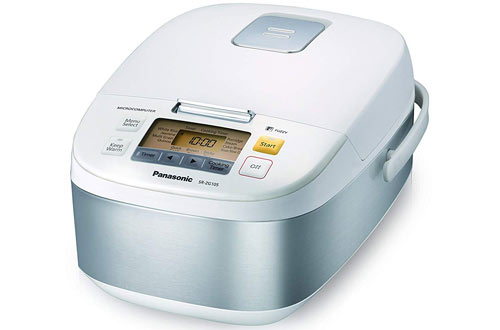 Panasonic 5-Cup Controlled Stainless Steel Rice Cooker