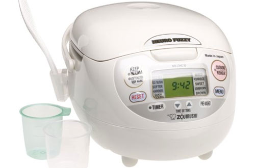 Zojirushi NS-ZCC10 Premium White Fuzzy Rice Cooker & Warmer