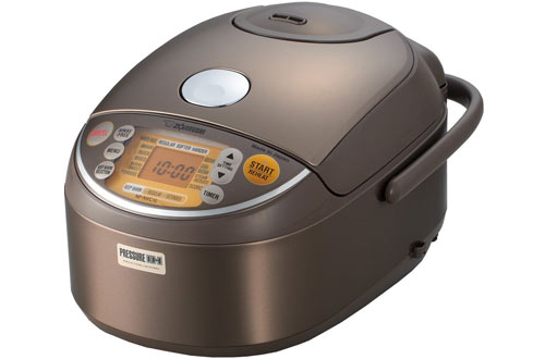 Zojirushi Stainless Brown NP-NVC10 Induction Heating Pressure Rice Cooker and Warmer