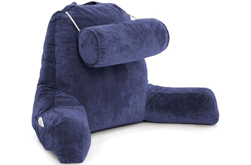 Husband PillowBig Reading and Bed Rest Pillow with Arms