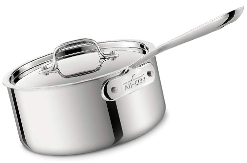 All-Clad Tri-Ply Bonded Dishwasher Safe Stainless Steel Sauce Pan