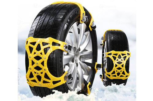 Zone Tech Premium Quality Strong Durable Car Snow Chains for Car, SUV and Pick Up