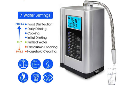AquaGreen Alkaline Water Ionizer Machine with Auto-Cleaning