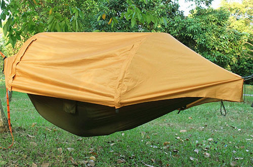 Camping Hammock with Mosquito Net & Rainfly Cover