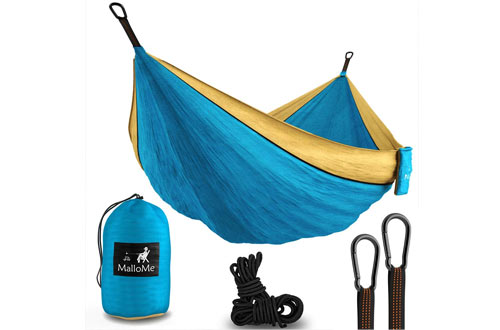 MalloMe Portable Double Tree Hammocks for Camping
