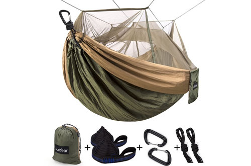Sunyear Single & Double Hammock for Camping, Backpacking, Survival & Travel